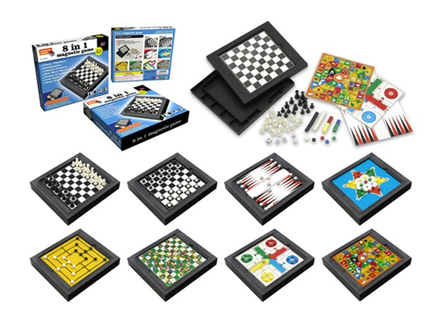 """Magnetic Games - 8 in 1 magnetic game set 8"""""""