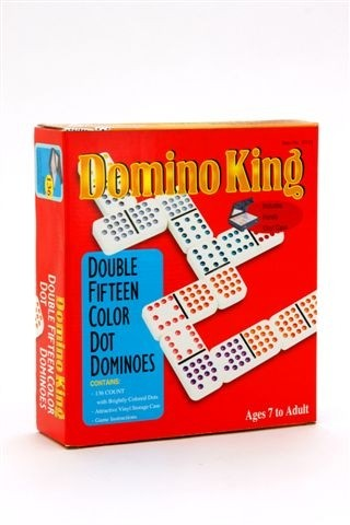 Dominoes - Domino King, double 15, colour dots
