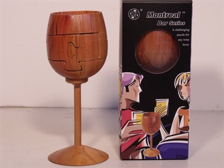 Montreal 3D Puzzles - Wine Glass Puzzle, Wood