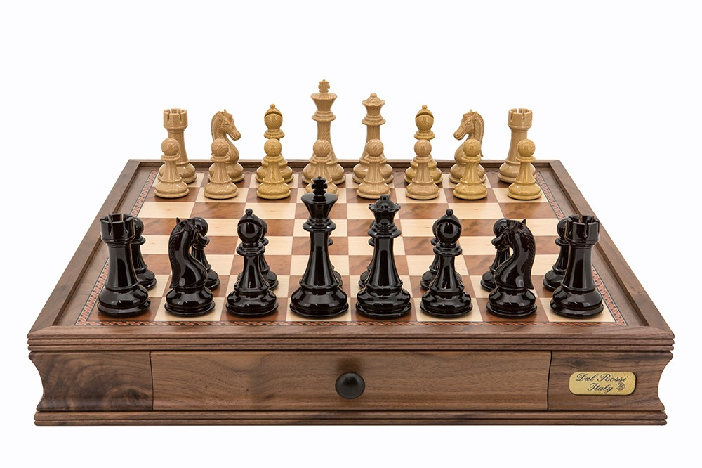 """Dal Rossi Italy Dark Red and Colour Chess Pieces Chess Set 20"""""""