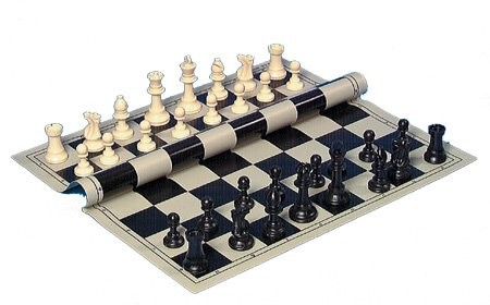 Chess pieces, plastic, weighted, 95mm