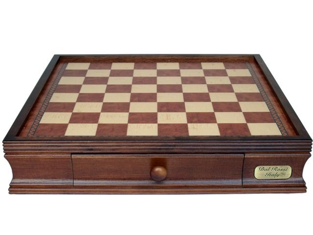 "Dal Rossi  Chess BOX ONLY With Two Drawers 20"" Walnut Finsh"
