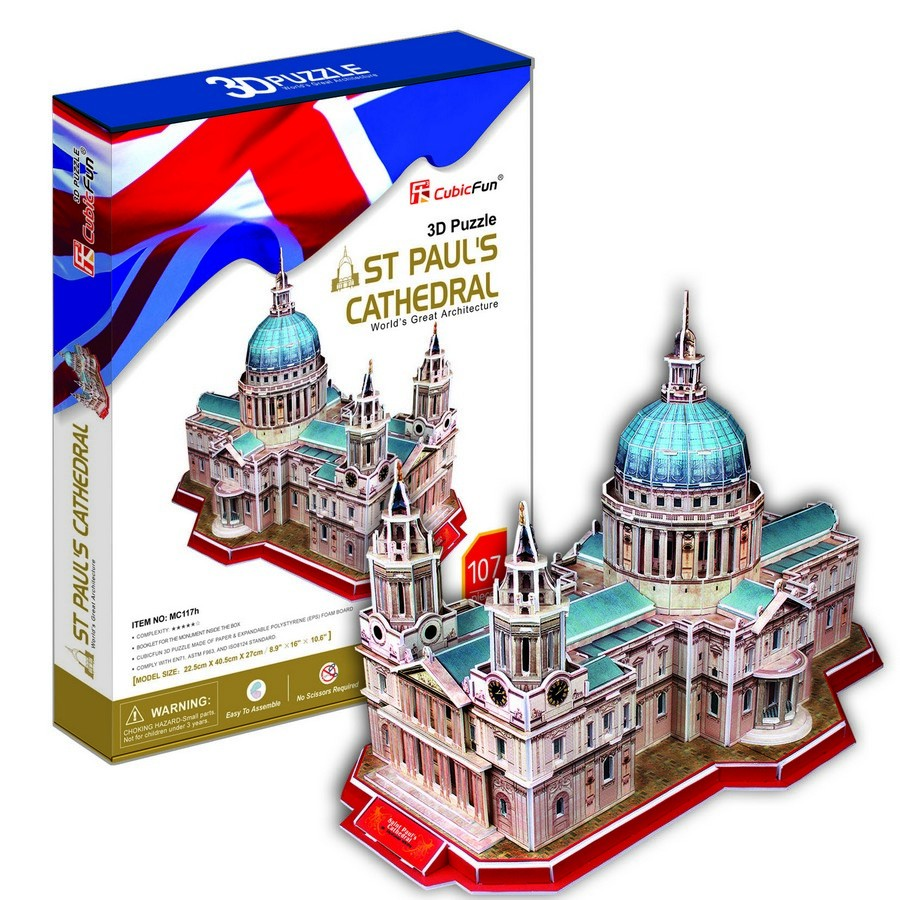 Cubic Fun 3d Puzzle St Paul 39 S Cathedral Puzzles