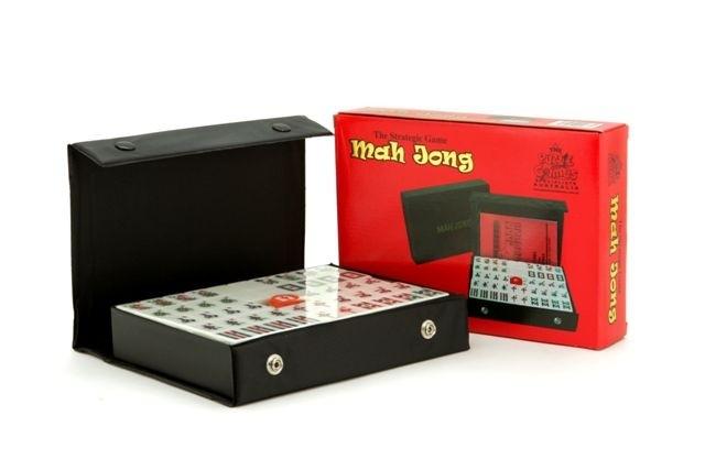 Mahjong, black vinyl case, 22cm