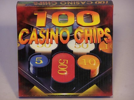 Casino Chips &Accessories - Casino chips plastic box 100 Numbered