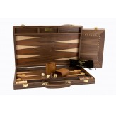 Dal Rossi Backgammon, walnut With Handle, 15""