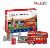 """Cubic Fun - 3D Puzzle: """"Tour in London"""""""