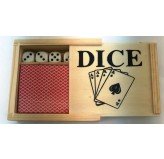 Dice Dice & Playing Cards - Wooden Box
