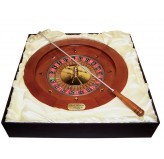 "Dal Rossi Italy - Roulette & Rake 16"" Wood with a metal ball"