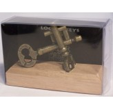 Colonial Classics Metal Wood Base - Locked Keys,wood base