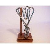 Colonial Classics Wire Wood Base - Heart AttackWood Base