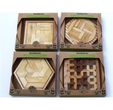 "Bamboo Puzzles ""ECO Series"" - ""Shape Sorter"" Display of 12 Assorted"