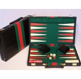 Backgammon, black vinyl case, 15