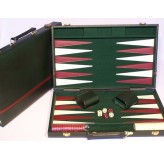 Backgammon, Burgundy snakeskin,18