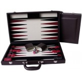 "Dal Rossi Burgundy Backgammon 15"" PU Leather"