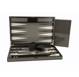 Dal Rossi Carbon Fibre Finish Backgammon 18""