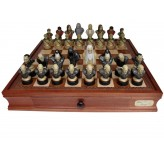 "Dal Rossi Italy, ""Lord of the Rings"" Chess Set on Dal Rossi 50cm (20"") Chess Box"