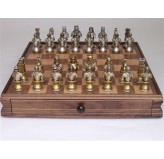 Dal Rossi Italy Medieval Warriors (Resin) Chess Set on 38cm Dal Rossi Chess Box