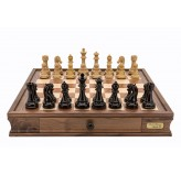 Dal Rossi Italy Dark Red and Colour Chess Pieces Chess Set 20""