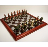 "Hand Paint Chess Set - ""Robin Hood"" Theme with 75mm pieces, 45cm With Board"