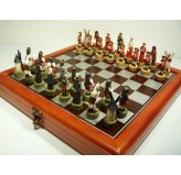 "Hand Paint Chess Set - ""Don Quixote"" Theme with 75mm pieces, 45cm Chess Set Board + Storage Box"