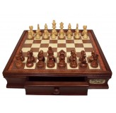 "Dal Rossi Chess Set 16"", With Boxwood/Sheesham 85mm pieces Wood Double Weighted"""