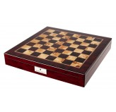 "Dal Rossi Italy Chess Box  Mahogany Finish 20"" with compartments"