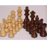 Chess Pieces - French lardy, Boxwood/Sheesham85mm Wood Double Weighted""