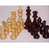 Chess Pieces - French lardy, Boxwood/Rosewood 95mm Wood Double Weighted