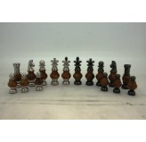 Dal Rossi Italy, Staunton Metal and  Wood Gold 100mm Chessmen ONLY