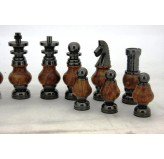 Dal Rossi Italy, Staunton Large Metal and Wood Chessmen ONLY