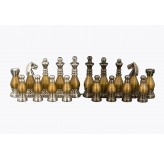 Dal Rossi Italy, Metal light gold plated Chessmen 100mm Chessmen ONLY