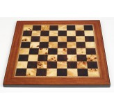 Dal Rossi Italy Gold & Silver Chess Pieces on Walnut Shiny Finish Chess Board 20""