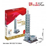 "Cubic Fun - 3D Puzzle: ""TaiPei 101""  (71pc)"