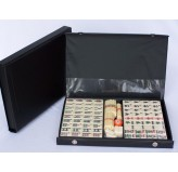 Mahjong, black vinyl case, with sticks 32cm