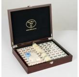 Dal Rossi Italy, Mahjong 29cm - in Mahogany Finish Case