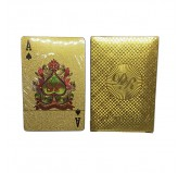 Dal Rossi Italy Luxury 24k 99.9% Genuine Gold Plated Playing cards.