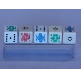 Dice - Poker dice set, plastic pack