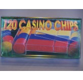 Casino Chips &Accessories - Casino chips, economy, boxed, 120pc