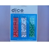 Dice - Dice, 3 assorted colours, card 48