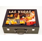 Dal Rossi Italy Las Vegas att - case 500 Chips 11.5grms Incudes 2 Packs of Playing Cards