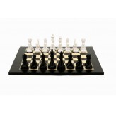 Dal Rossi Italy Chess Set, 50cm Board With Black & White Weighted Chess Pieces (101mm)