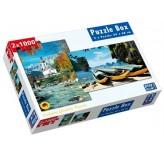 2 x 1000 piece Jigsaw Puzzle - Ramsau, Germany & James Bond Island, Thailand