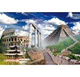 1000pc Play NOW! Jigsaw Puzzle - Colloseum, Athens, Chinese Wall, Temple Lijang China, Chichen Itza Temple Mexico