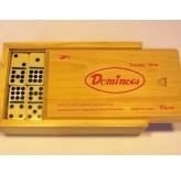 Dominoes - Double nine, wood case