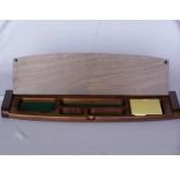 Desk Accessories - Multi tidy with memo pad, walnut