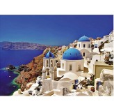 1000pc Jigsaw - Santorini Made From High Quality European Blue Board)
