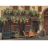 1000pc Jigsaw - Romantic Café (Made From High Quality European Blue Board)