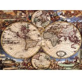 1000pc Jigsaw - The World Map   (Made From High Quality European Blue Board)