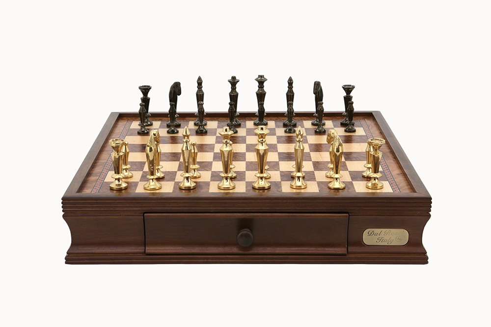 "Dal Rossi Chess set 16"" with Sleek Chessmen"
